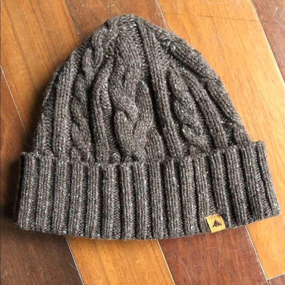 53323e645bf Burton Other - Burton Snowboards Wool Bering Beanie Brown Toque